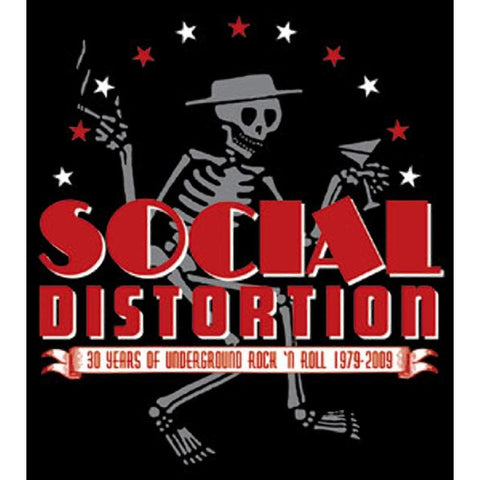Social Distortion Skelly & Logo Sticker