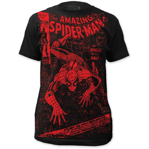 Spider-Man Spider Or The Man Big Print Men's Subway T-Shirt