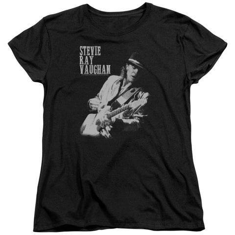 Stevie Ray Vaughan Special Order Live Alive Women's 18/1 100% Cotton Short-Sleeve T-Shirt