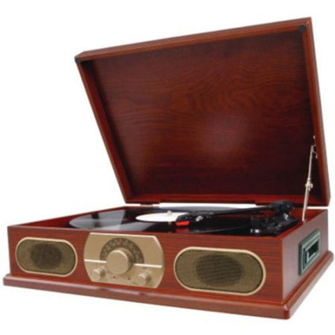 Studebaker SB6052 Wooden Turntable With AM/FM Radio