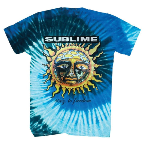 Sublime 40 Oz to Freedom Tie Dye Men's T-Shirt
