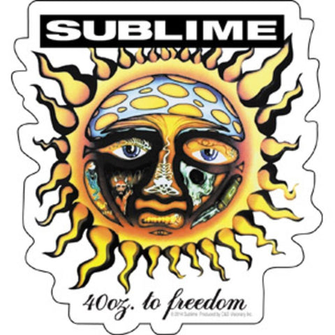 Sublime 40oz. Sun Sticker