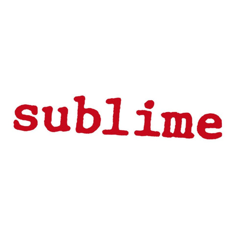 Sublime Courier Logo Rub-On Sticker - Red