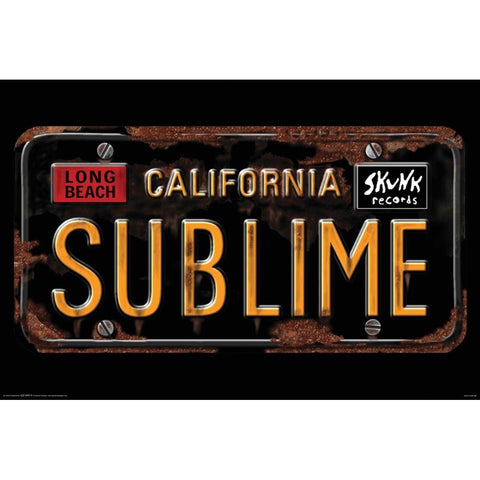 Sublime License Plate Wall Poster