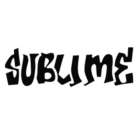Sublime Logo Rub-On Sticker - Black