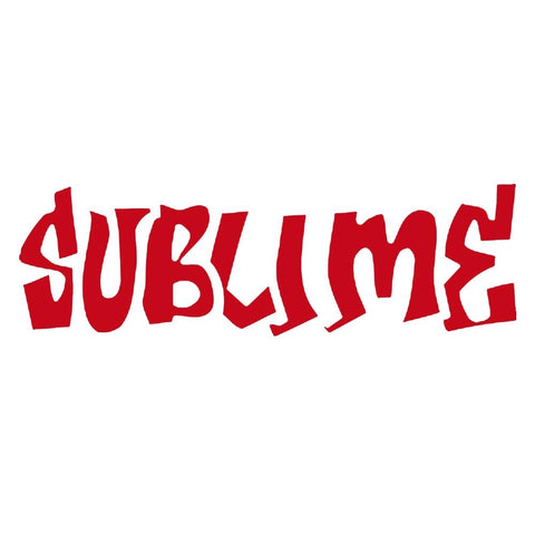 Sublime Logo Rub-On Sticker - Red