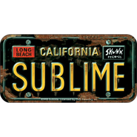 Sublime License Plate Logo Sticker