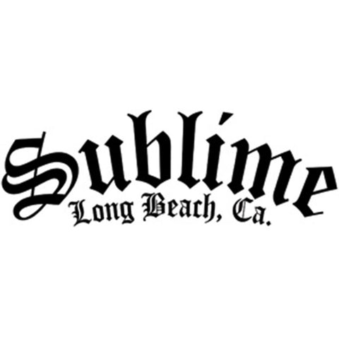 Sublime Second Hand Smoke Rub-on Sticker Black