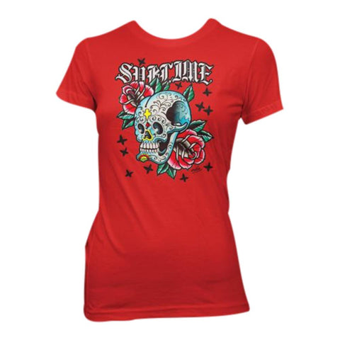 Sublime Skull With Roses Women's T-Shirt