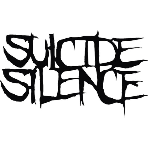 Suicide Silence Logo Rub On Sticker - Black