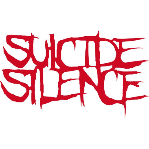 Suicide Silence Logo Rub On Sticker - Red