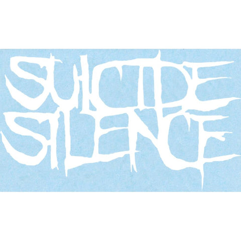Suicide Silence Logo Rub On Sticker - White