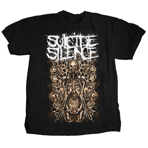 Suicide Silence Mangled Gears Men's T-Shirt