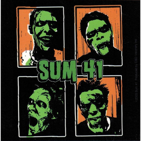Sum 41 green faced band members sticker