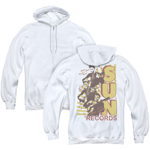 Sun Records Tri Elvis (Back Print) Men's Pull-Over Hoodie