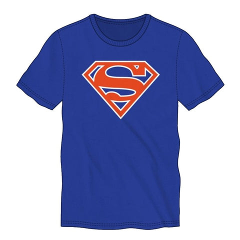 Superman Orange Logo Royal Men's T-Shirt