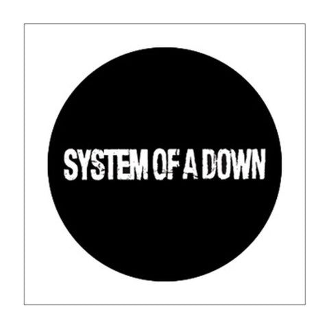 System of a Down Distressed Logo Button