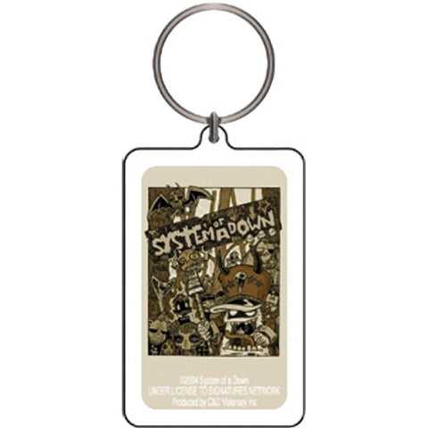 System Of A Down Monsters Lucite Keychain