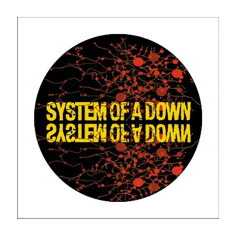 System of a Down Splatter Button