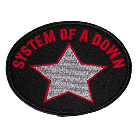 System Of A Down Star On Black Embroidered Magnet