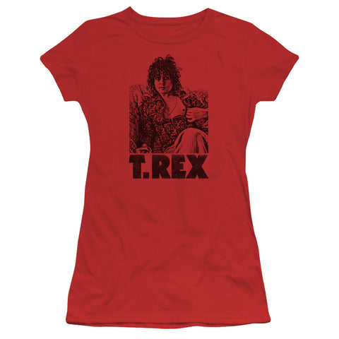 T Rex Special Order Lounging Junior's 30/1 100% Cotton Cap-Sleeve Sheer T-Shirt