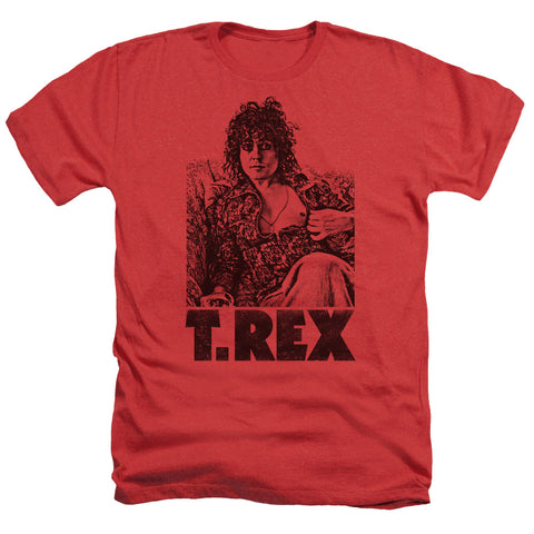 T Rex Special Order Lounging Men's 30/1 Heather 60% Cotton 40% Poly Short-Sleeve T-Shirt