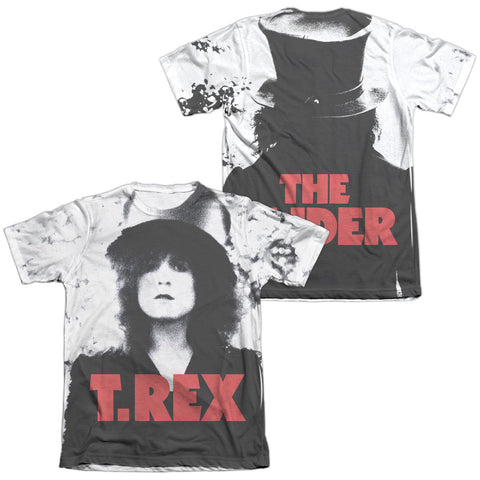 T Rex Special Order The Slider Cover (Front/Back Print) Men's Regular Fit 65% Poly 35% Cotton Short-Sleeve T-Shirt