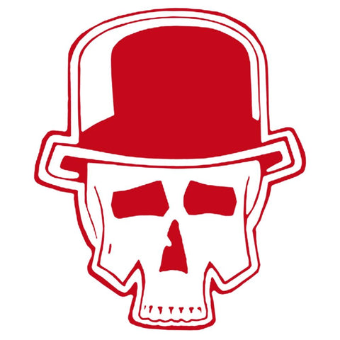 The Adicts Skull Rub-On Sticker - Red