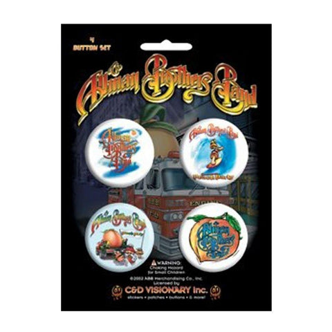 Allman Brothers Assorted Button Set