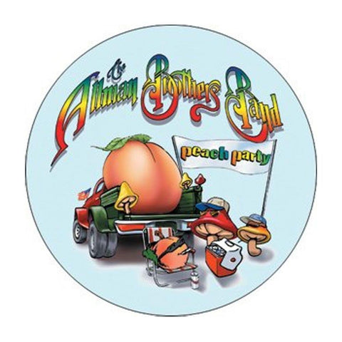 Allman Brothers Peach Party Button