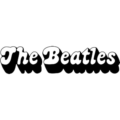 The Beatles 3D Logo Rub-On Sticker - Black