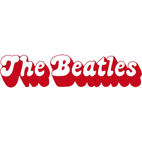 The Beatles 3D Logo Rub-On Sticker - Red