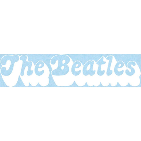 The Beatles 3D Logo Rub-On Sticker - White