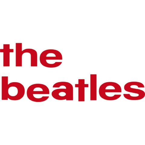 The Beatles 62 Lower Case Logo Rub-On Sticker - Red