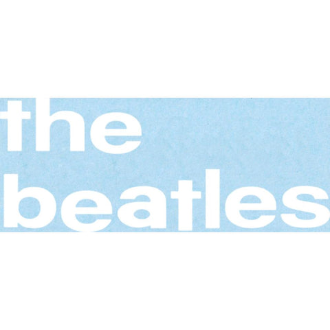 The Beatles 62 Lower Case Logo Rub-On Sticker - White