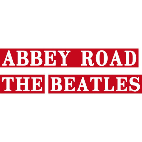 The Beatles Abbey Road Rub-On Sticker - Red