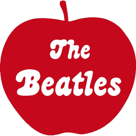 The Beatles Apple Logo Rub-On Sticker - Red