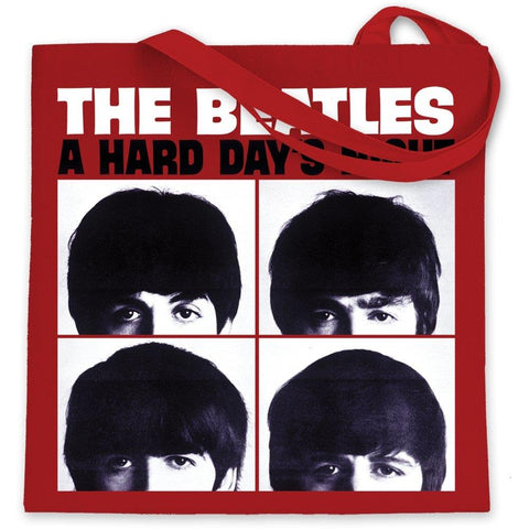 Beatles Hard Days Night Canvas Tote Bag