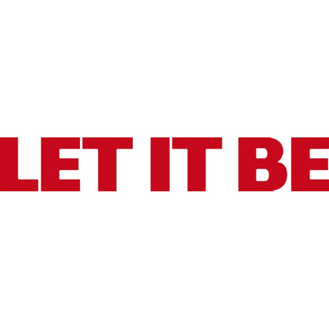 The Beatles Let It Be Rub-On Sticker - Red