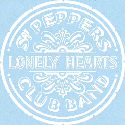 The Beatles Sgt. Pepper's Lonely Hearts Club Band Rub-On Sticker - White