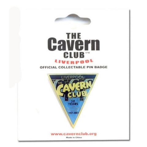 Beatles Cavern Club 50th Anniversary Triangle Button