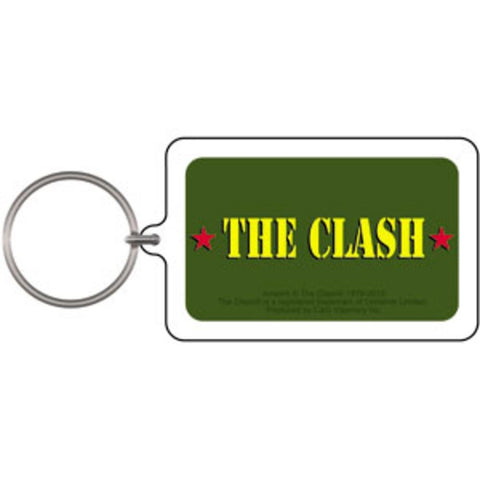 The Clash Army Logo Lucite Keychain