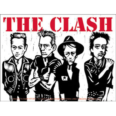 The Clash Caricature Sticker