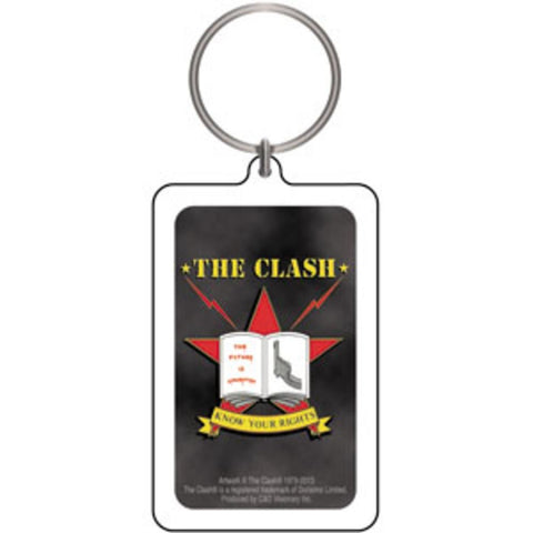 The Clash Know Your Rights Lucite Keychain