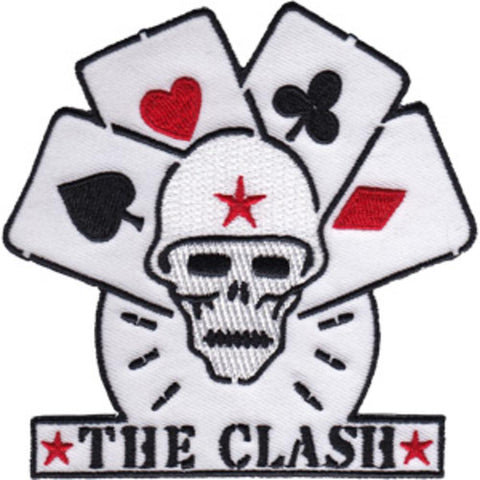 The Clash Skull And Cards Patch