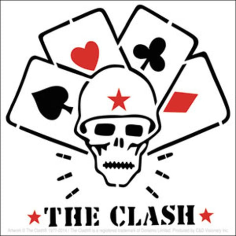 The Clash Skull And Cards Sticker