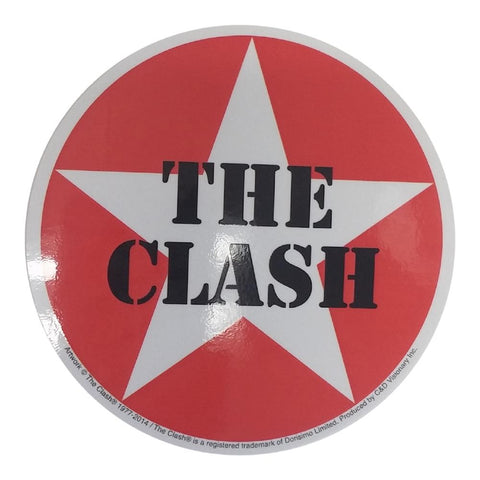 The Clash Star Logo Sticker