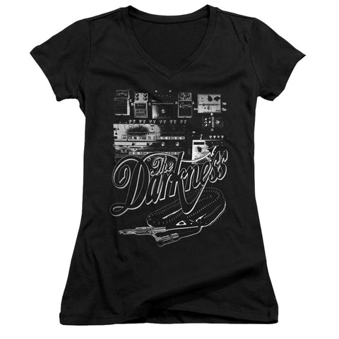 The Darkness Pedal Board Junior's 30/1 Cotton Cap-Sleeve V-Neck T