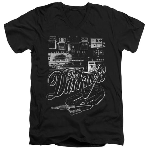 The Darkness Pedal Board Men's 30/1 Cotton Slim V-Neck T