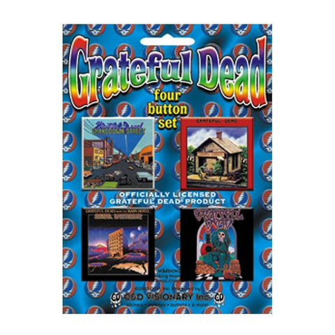 The Grateful Dead Assorted Square Button Set